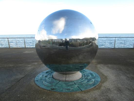 St Patrick's Stream: Reflective Sphere At Newcastle Front
