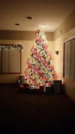 photo 15 foot christmas tree in the banquet hall is sure to make your party complete this christmas se