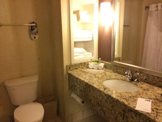 Holiday Inn Express Greenville I-85 and Woodruff Road : Bathroom.