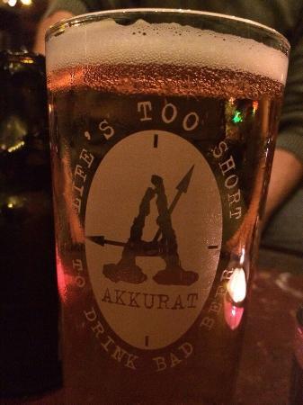 Akkurat Bar & Restaurant: Excelente cerveja