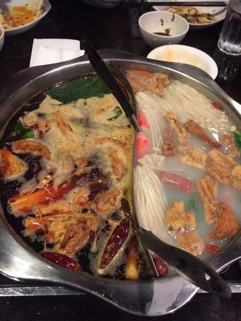 Little Szechuan: Spicy & Mild split hot pot