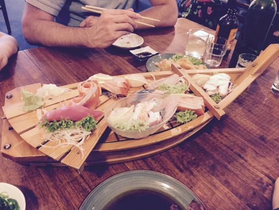 Yamato Japanese Restaurant: The deluxe sushi platter