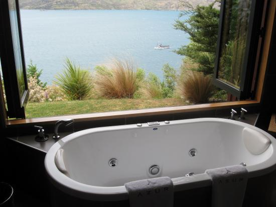 Azur: awesome views from spa tub