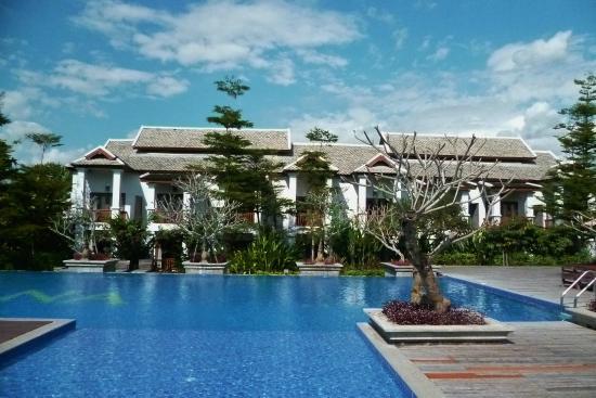 Le Palais Juliana: les chambres face à la piscine