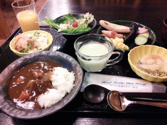 Hotel Hokke Club Sendai : 朝食バイキング
