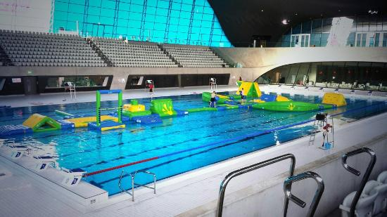 Inflatable session at the queen elizabeth olympic park aquatics centre picture of london for Swimming pools in london ontario