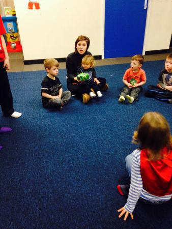 Funways: Paige with children playing pass the parcel
