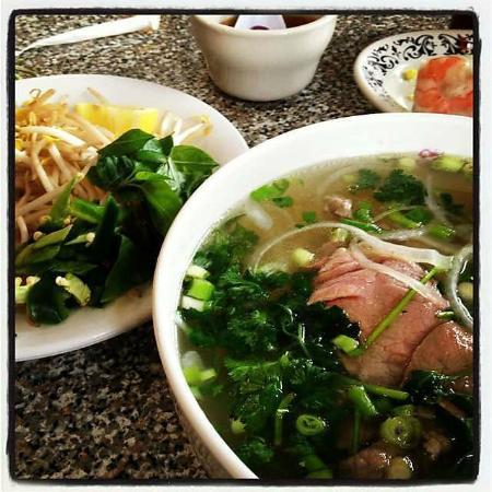Pho Saigon: Pho with additions - basil, bamboo shoots, chilis