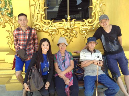 Chiang Mai Local Tours - Private Day Tours: The White Temple with our tour guide Miss A ( in black ) front row on left