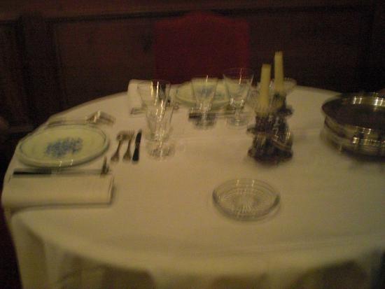 Chateau de Ternay: la table