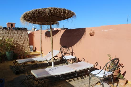 Riad BE Marrakech : on terrace in morning
