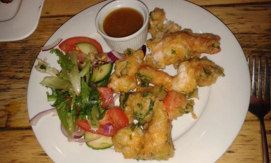 Luigikhan's: king prawn starter