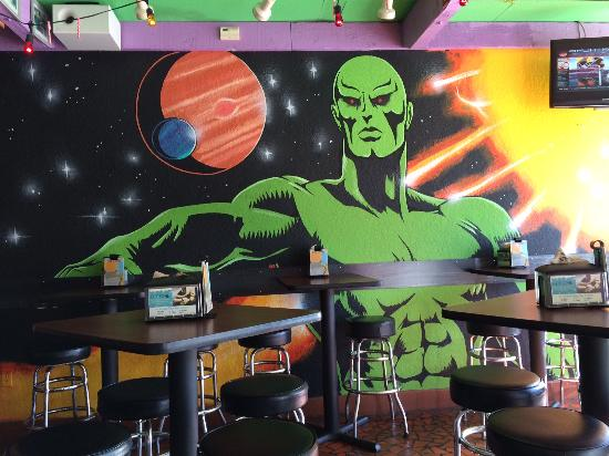 Crazy wall art. Not sure of significance. - Picture of Tijuana Flats ...