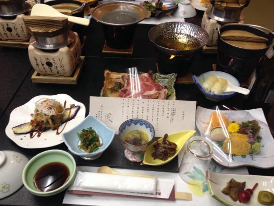 Komagatake Grand Hotel: Sumptuous dinner portion