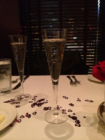 The Capital Grille: Champaign toast..