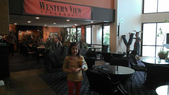 Western View Steakhouse: View from the lobby.