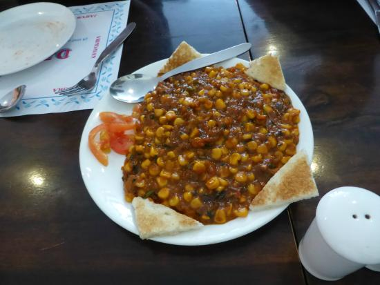 Dasaprakash Restaurant: chili corn with toast