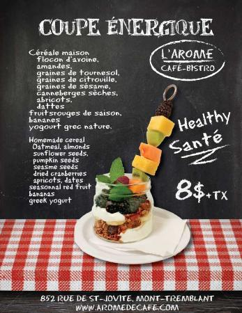 L'Arome Cafe Bistro: Coupe energique