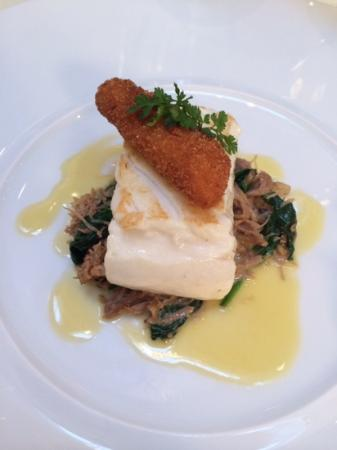 Halibut with Confit of Duck