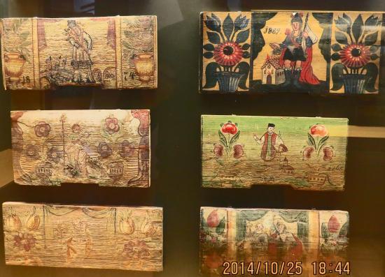 Beekeeping Museum (Cebelarski muzej) : artistic painted beehive front boards