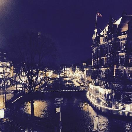 House of Amstel: Picture taken from the bed in the rooftop apartment