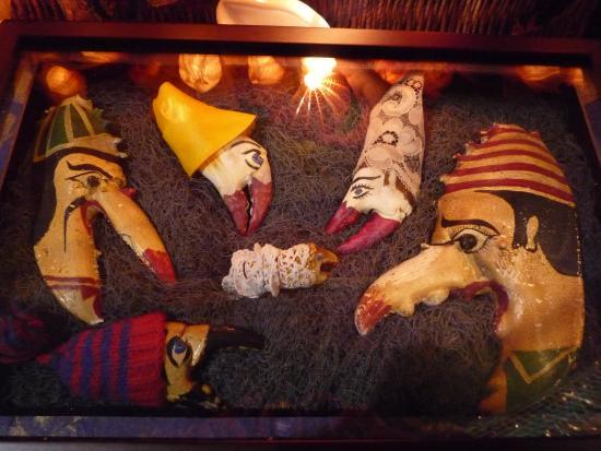 Musée des Thoniers Etel : crèche pinces de crabes
