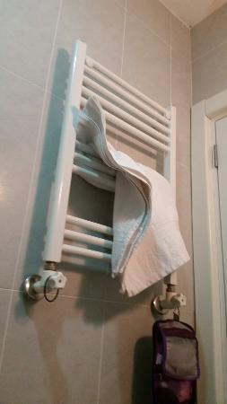 Apartof: There is heater in the bathroom. ..hair drier...soap..shampoo and dry and clean towels everyday!