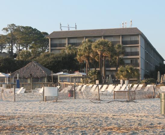 beach house resort viewed from the beach