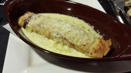 El Coralet: Crep de pollo al curry