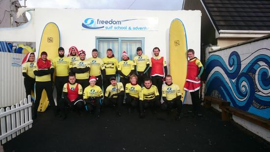 Freedom Surf School & Adventure: TVM IRIS Christmas Party Surf lesson