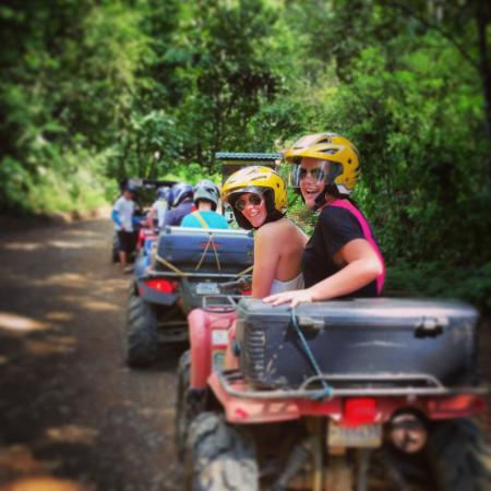 Jungle ATV Quad Tours: 17 year old driver with a 16 year old co-driver