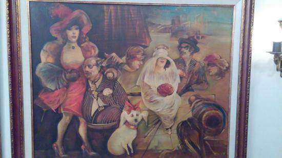 Katy's: It is like an art gallery!   Amazing original art on the wall