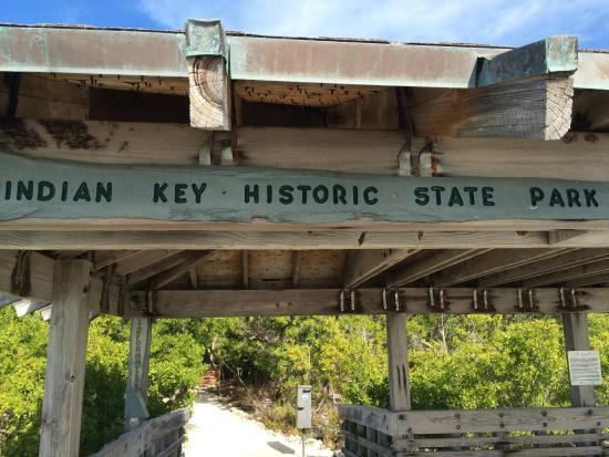 Indian Key State Historic Site: Sign
