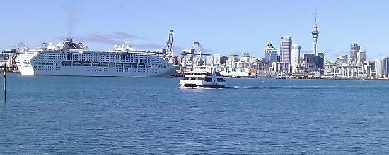 The Esplanade Hotel: One of the regular cruise ship visitors to our neighbourhood