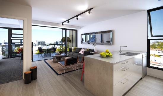 Superbe Arena Apartments: Deluxe Living Room