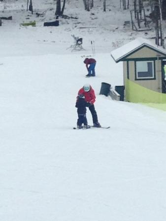 Pine Mountain Resort: Our 3 year old learned how to ski with his favorite instructor, Ali!