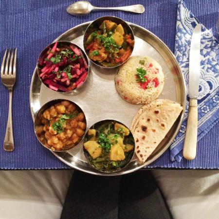 Scarlette New Delhi: Our vegetarian dinner