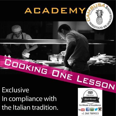 Cambusa Italian Restaurant : Cooking lesson