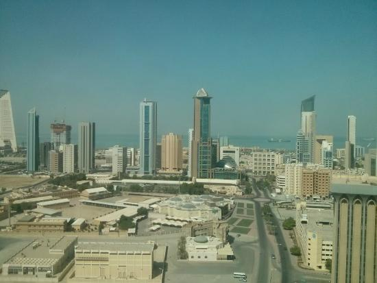 Courtyard Kuwait City: View from an even numbered room on 17the floor