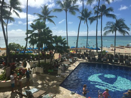 Outrigger Waikiki Beach Resort View Of The Pool And Area Taken At Hula