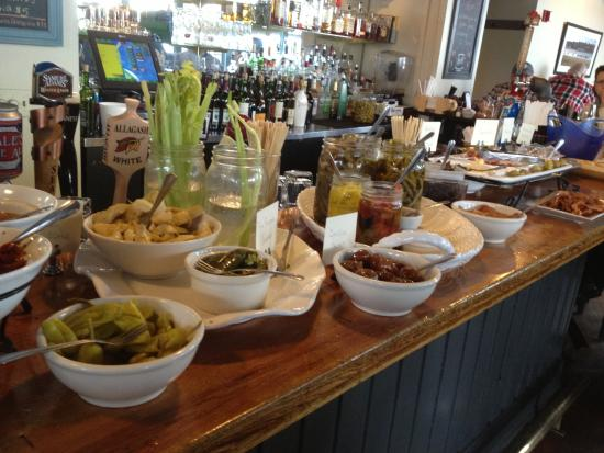 Blue water cafe bloody mary bar picture of bluewater grill skaneateles tripadvisor - Blue water bar and grill ...