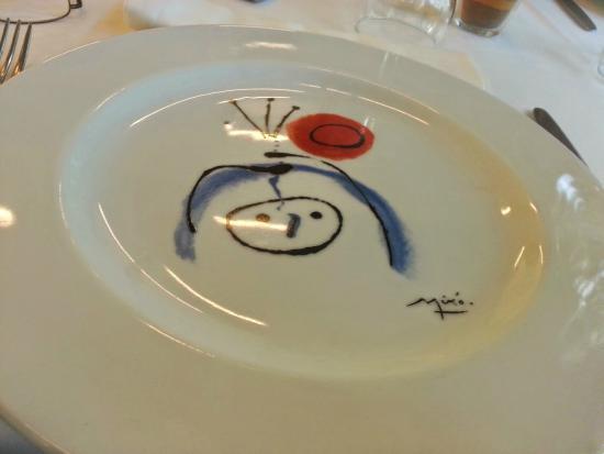 Fundacio Joan Miro Bar-Restaurant : Restaurante da Fundacio Miró, detalhe do Prato
