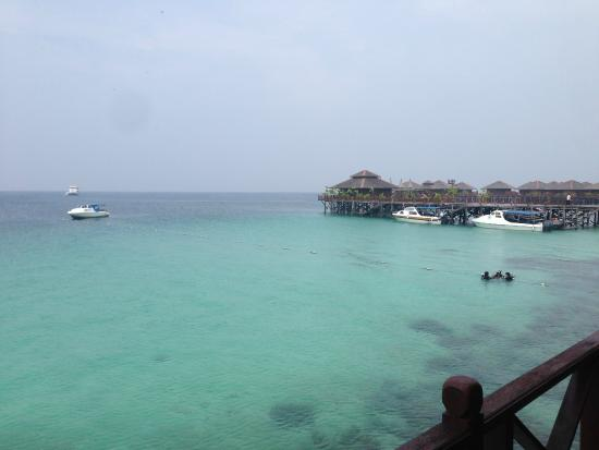 Sipadan Water Village: View from the room