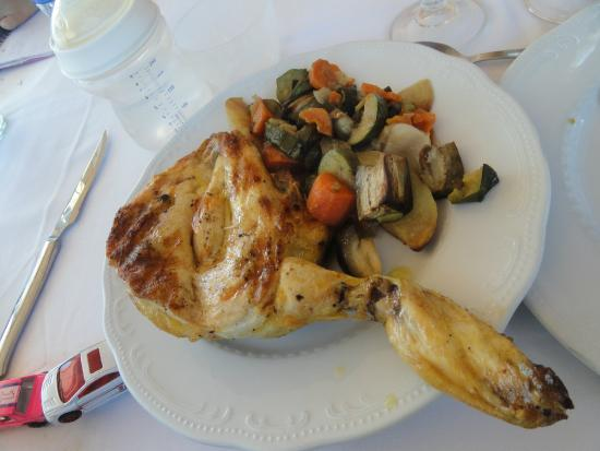 Pechuga de pollo con guarnici n de verduras al horno - Pechugas de pollo al horno ...