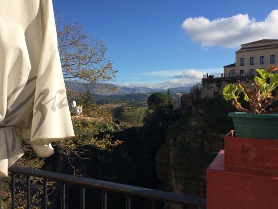 Restaurante Don Miguel SL.: Vue de la table en terrasse sud 😀