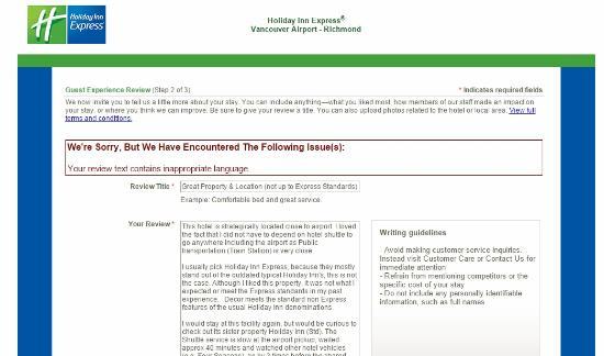 Holiday Inn Express Vancouver Airport : Original Review
