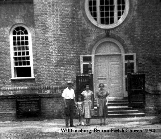 Bruton Parish Episcopal Church: First visit to Bruton Parish as a 4 year old, 1954