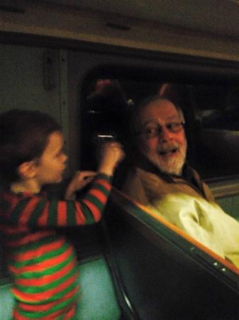 French Lick Scenic Railway: the kids got bells from santa