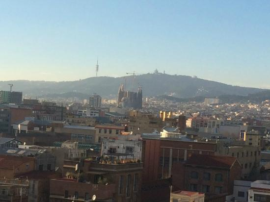 Hotel 4 Barcelona: Fabulous city view from the 7th floor