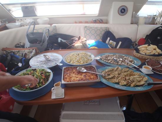 Seaduced Luxury Catamaran: The food
